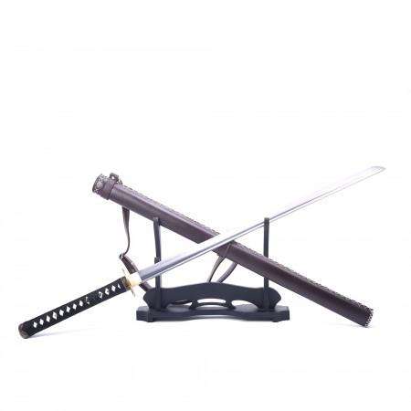 Handmade Zombie Tsuba Japanese Ninjato Ninja Swords Samurai Swords With Leather Scabbard