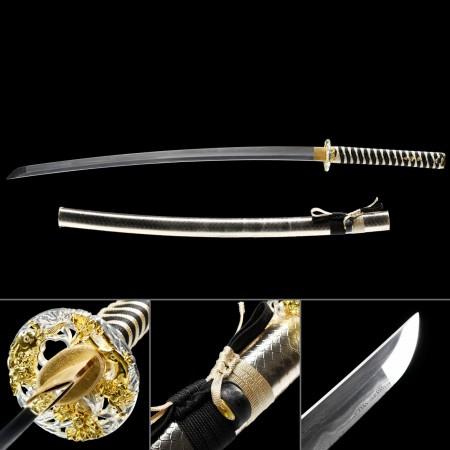 Handmade Damascus Steel Snake Style Cool Katana Japanese Samurai Swords