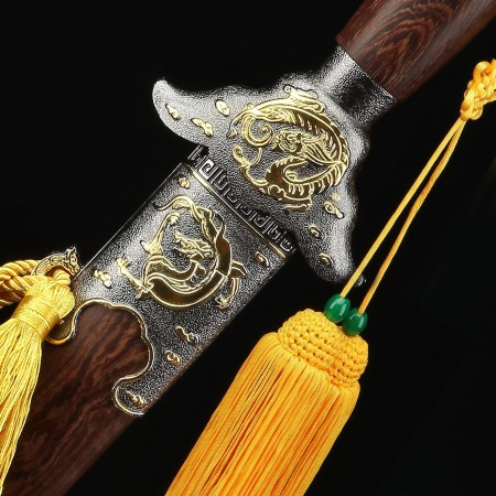 Handmade Dragon and Phoenix Style Chinese Tai Chi Sword Training Swords