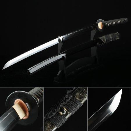 Handmade T10 Steel Real Katana Japanese Samurai Swords With Black Scabbard