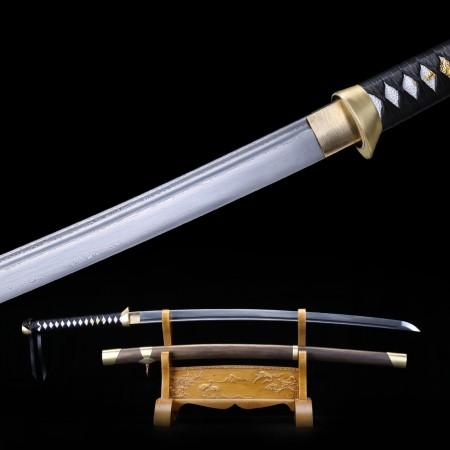 Hand Grinding Hand Forge Damascus Steel Copper Fittings Japanese Samurai Swords