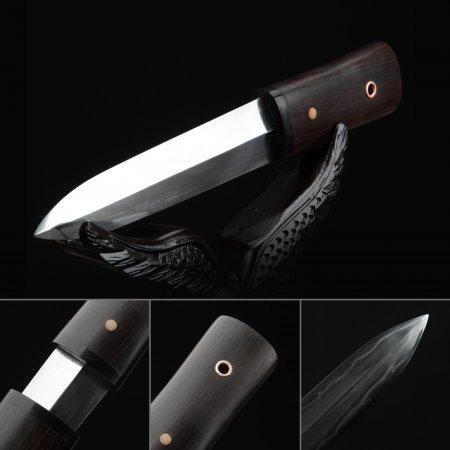 Handmade Double Edge Blade Short Sword Japanese Aikuchi Pocket Tanto Knife