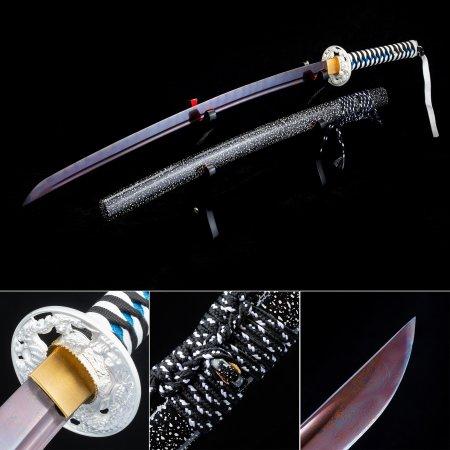 High-performance Pattern Steel Purple Blade Sharpening Japanese Katana Samurai Swords