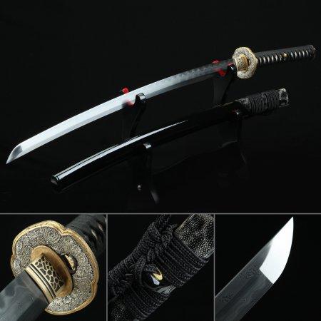 Handmade Gold Feather Tsuba Katana Real Katana Japanese Samurai Swords