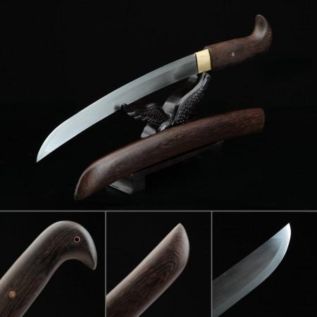 Handmade Pattern Steel Real Short Katana Japanese Pocket Tanto Knife