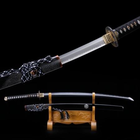 Real Katana, Highest Quality T10 High Carbon Steel Black Japanese Samurai Swords