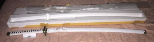 One Piece  Roronoa Zoro Wado Ichimonji Real Katana Samurai Sword Replica With White Scabbard