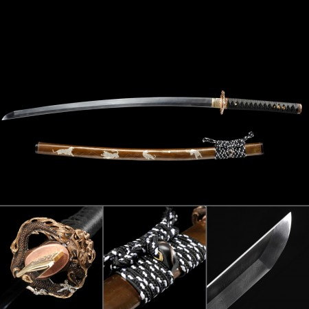 Battle Ready Katana, Authentic Japanese Katana Damascus Steel Hand Forged Tactical Swords