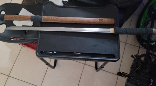 Handmade Japanese Shirasaya Fujitora Ninjato Ninja Shikomizue Blind Fury Stick Swords Without Tsuba