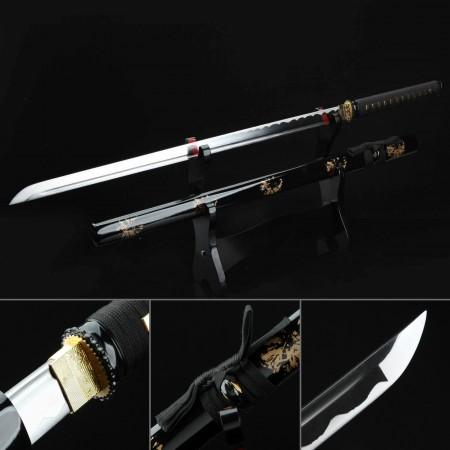 Japanese Straight Sword, Handmade Chokuto Ninjato Ninja Swords No Guard Katana