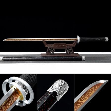 Handmade High-performance High Manganese Steel Real Japanese Ninjato Ninja Sword With Black Scabba
