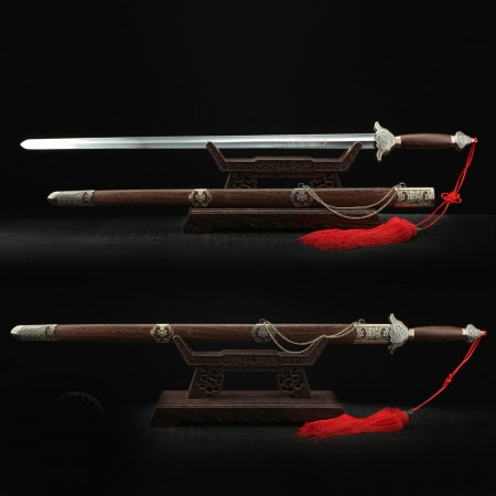 Handmade Real Taiji Sword Tai Chi Sword With Bronze Brown Scabbard
