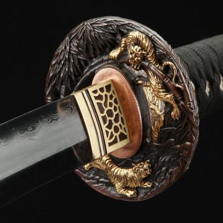 Battle Ready Katana, Authentic Japanese Katana Damascus Steel Hand Forged Sturdy Tactical Swords