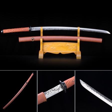 Handmade High Manganese Steel Rosewood Saya Full Tang Real Japanese Katana Samurai Swords