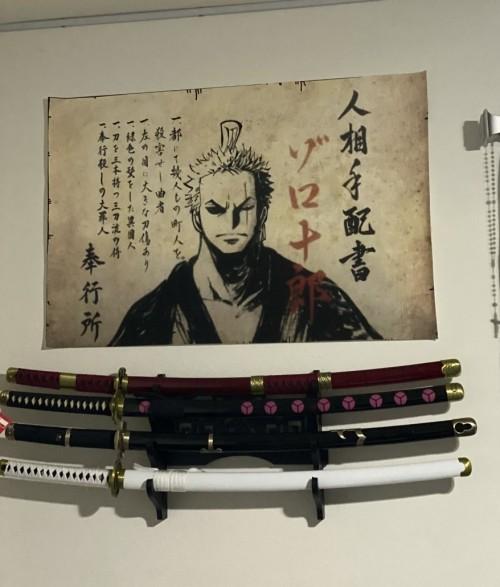 Roronoa Zoro Katana Sword Four Set Replica: Shusui, Wado Ichimonji, Sandai Kitetsu And Yubashiri Set