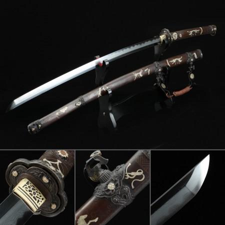 Battle Ready Katana, Authentic Japanese Tachi Odachi Sword 1000 Layer Folded Steel Tactical Swords
