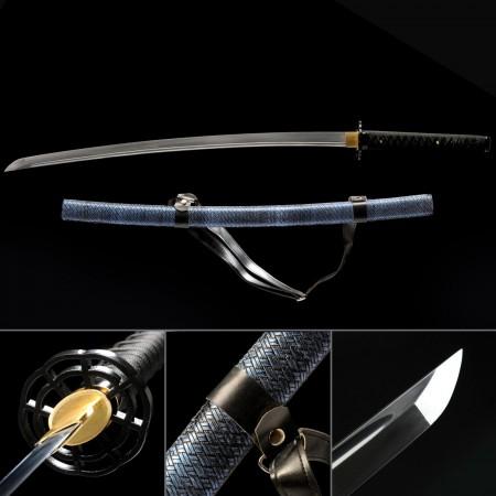 Handmade Carbon Steel Japanese Samurai Katana Swords With Black Strap