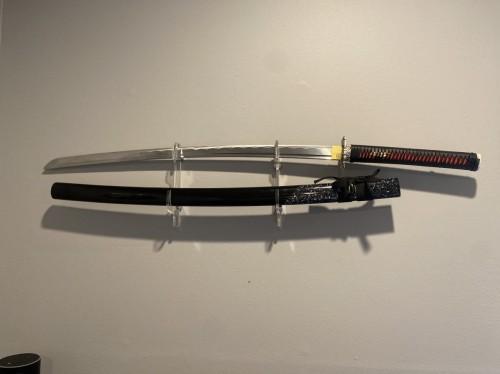 Katana Swords,  Handmade Japanese Sword With Waves And Fish Style Tsuba