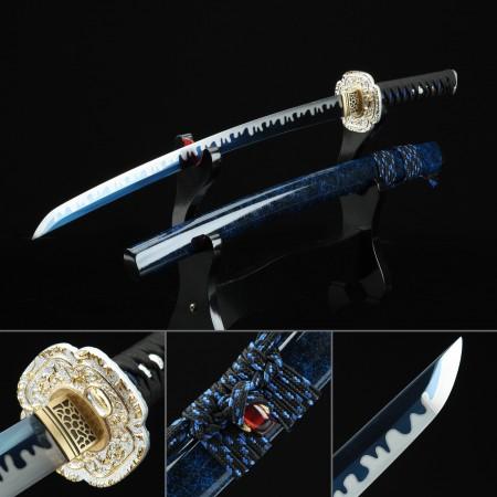 Handmade High-performance Manganese Steel Blue Theme Hand Sharpening Real Japanese Katana
