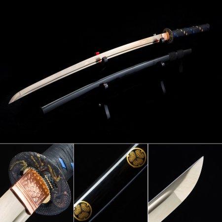 High Manganese Steel Gold Blade  Sharpening Japanese Katana Samurai Swords With Black Scabbard
