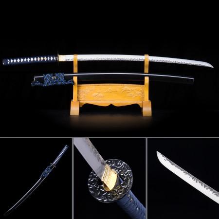 Handmade High Manganese Steel Black Saya Sharpened Real Japanese Katana Samurai Swords
