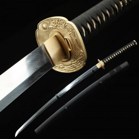 Handmade Gold Torsion-fibre Tsuba Real Katana Japanese Samurai Swords
