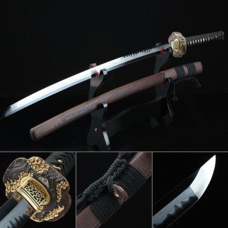 Handmade Cloud Style Tsuba Full Tang Katana Japanese Samurai Sword