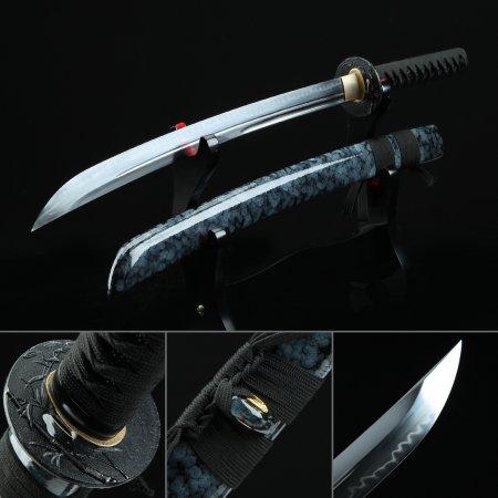 Hand Forged Full Tang Short Naginata Samurai Swords With Granite Style Scabbard