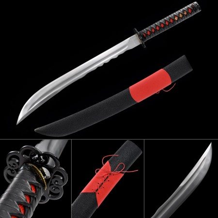 Handmade High Manganese Steel Sharpened Full Tang Real Japanese Tanto Swords