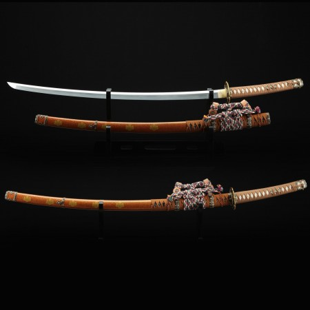 Japanese Tachi Odachi Sword With 1045 Carbon Steel With Brown Saya