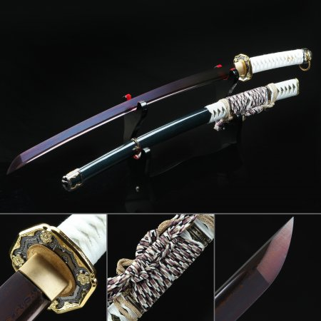 Japanese Tachi Odachi Sword 1045 Carbon Steel With Blue Scabbard