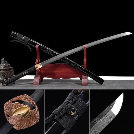 Battle Ready Sword, Handmade Japanese Samurai Sword Damascus Steel Full Tang