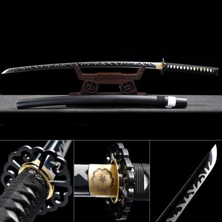 Handmade High Manganese Steel Full Tang Sharpened Real Japanese Katana Samurai Swords