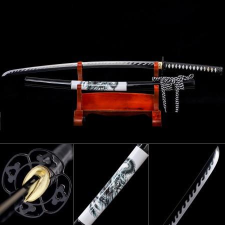 Handmade High Manganese Steel Dragon Saya Theme Real Japanese Katana Samurai Swords