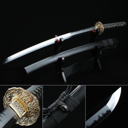 Real T10 Handmade Big Wave Style Tsuba Katana Japanese Samurai Sword