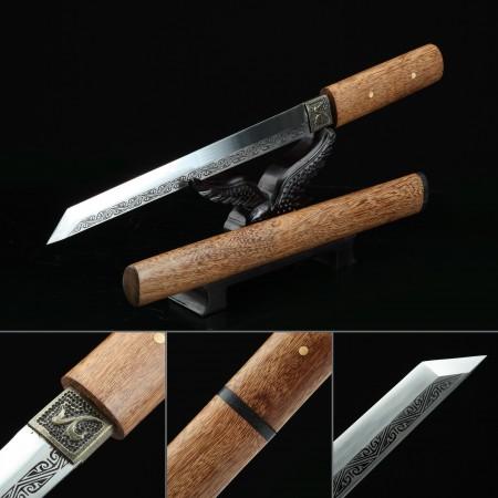 Handmade High Manganese Steel Real Japanese Samurai Aikuchi Tanto Swords